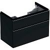 Geberit iCon Тумба с раковиной 89х62х47.7см, с 1 отв., подвесная, с двумя выдвижными ящиками, цвет: темно-серый/матовое покрытие