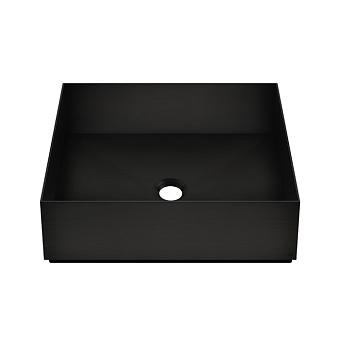 GESSI 316 Раковина 400x400 мм., для установки на столешницу, без перелива, нержавеющая сталь, цвет: Black XL