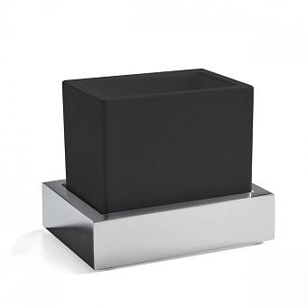3SC SK 3.0 Стакан настольный, композит Solid Surface, цвет: чёрный/хром