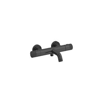 Cristina East side Смеситель термостатический для ванны, 2 отв., цвет: черный матовый
