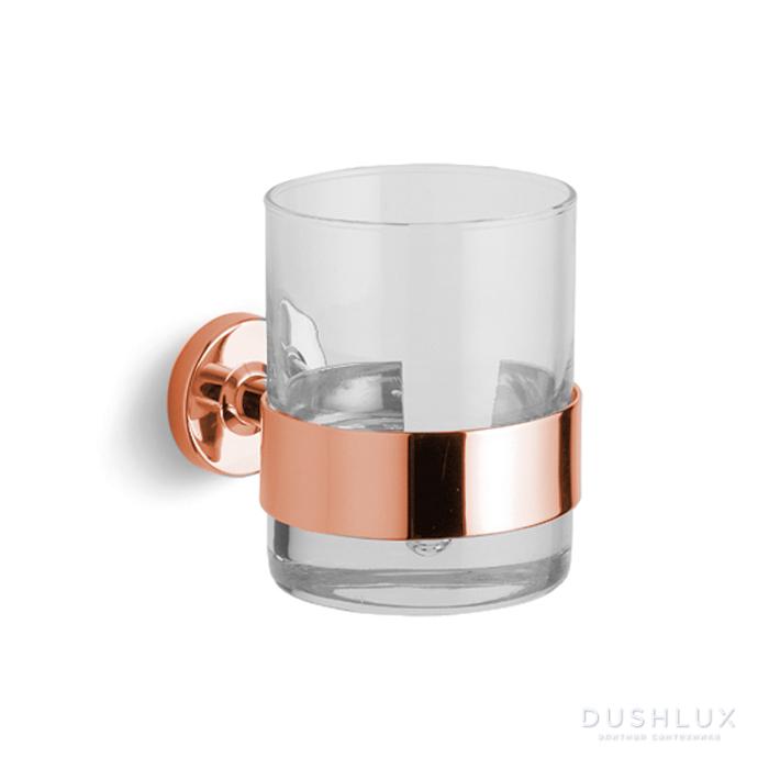 Bertocci Cinquecento Стакан подвесной, цвет: прозрачное стекло/розовое золото