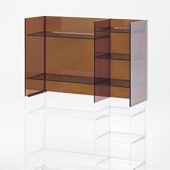 Laufen Kartell Стеллаж, 750х260х530мм, пластик, цвет: янтарь