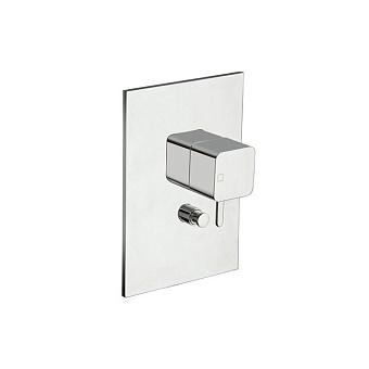 Cristina King Смеситель для ванны/душа с переключателем на 2 выхода, встраиваемый, цвет: хром