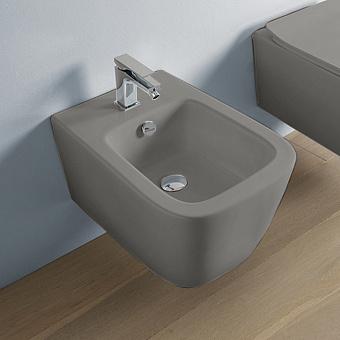 Artceram A16 Биде подвесное 52,5х36см, 1 отв под смеситель, цвет: grigio oliva