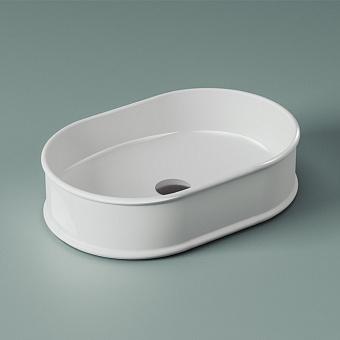 Artceram Atelier Раковина 60x40х15 см, без отв., накладная, без перелива, цвет: белый
