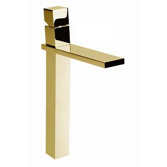 """Bossini Cube Смеситель для раковины на 1 отв., суперцвет:высокий с заглушкой 1""""1/4, цвет: золото"""