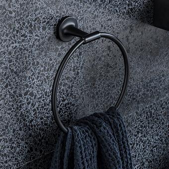 Duravit Starck T Полотенцедержатель - кольцо, подвесной, цвет: черный матовый