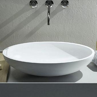 Cielo Era - Eco Раковина накладная 45xh24 см, круглая, цвет: глянцевый белый