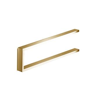 3SC SK Полотенцедержатель U-образный, плечо 35см, цвет: золото 24к. Lucido