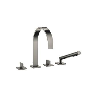 Dornbracht MEM Смеситель для ванны, на 4 отв., на борт, цвет: Dark Platinum matt