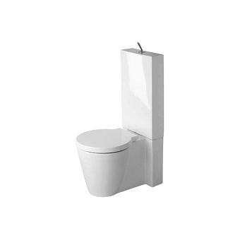 Duravit  Унитаз моноблок 640х415 мм, с креплениями ,  слив универсальный, цвет белый