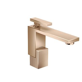 Axor Edge Смеситель для раковины, на 1 отв., с донным клапаном push/open, излив 160мм, алмазная огранка, цвет: красное золото