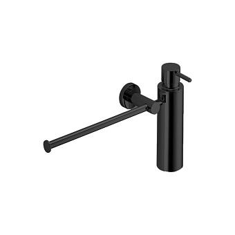 Colombo Plus Полотенцедержатель с дозатором для мыла, цвет: чёрный матовый