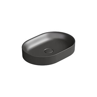 Catalano Horizon Раковина накладная 50х30хh:8.5см., без перелива, цвет: черный матовый
