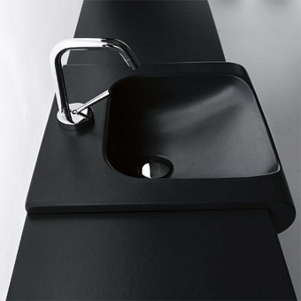 KERASAN Inka Project Раковина INKA 60x40x35,5 с 1 отверстием под смеситель,цвет черный матовый