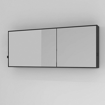 Cielo Simple Box Зеркало 110x45x12 см, цвет: матовый черный