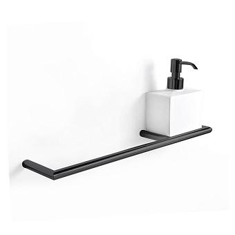 3SC Guy Полотенцедержатель и мыльница справа, подвесная, композит Solid Surface, цвет: белый матовый/черный матовый