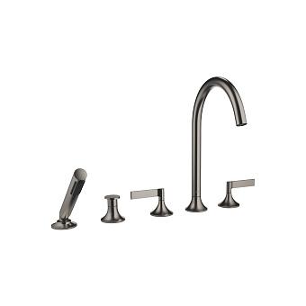 Dornbracht VAIA Смеситель для ванны, на 5 отв., на борт, с переключателем потоков, цвет: Dark Platinum matt