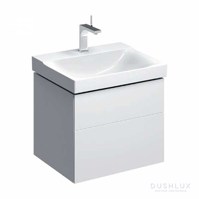 Geberit Xeno² Тумба с раковиной 58х22х46.2см, с 1 отв., подвесная, с двумя выдвижными ящиками, цвет: белый