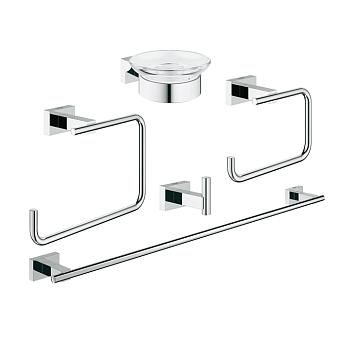 Grohe Essentials Cube Набор аксессуаров для ванной, цвет: хром