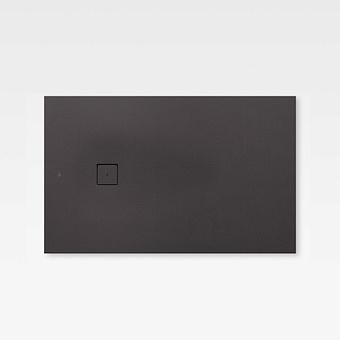 Armani Roca Baia Душевой поддон 120х80х2.8см с боковым сливом, с anti-slip, мат-л: Stonex, цвет: dark metallic