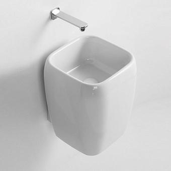 Cielo Shui Раковина 36х39х45 см, без отв., с полупьедесталом, подвесная, цвет: глянцевый белый