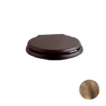 Devon&Devon Etoile/New Etoile Сиденье для унитаза из массива дуба, цвет: темный/петли состаренная бронза