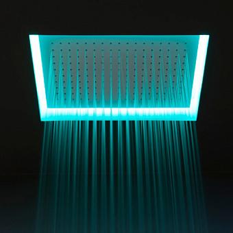 Antonio Lupi Душевая система Meteo верхний душ 52x35x11 см, зеркальная сталь с подсветкой