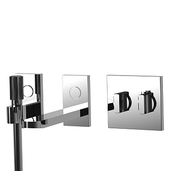 Carlo Frattini Switch Смеситель для ванны встраиваемый, термостатический, излив 208 мм., ручной душ,  цвет: хром