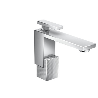 Axor Edge Смеситель для раковины, на 1 отв., с донным клапаном push/open, излив 160мм, алмазная огранка, цвет: хром