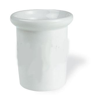 StilHaus Nemi Настольный стакан, цвет: хром/керамика