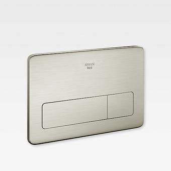 Armani Roca Baia Клавиша двойного смыва 3/6 л для системы инсталляции Duplo (арт. 890090400), цвет: brushed steel