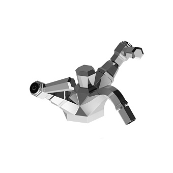 Stella Eccelsa Leve Смеситель для биде на 1 отверстие 3604, с донным клапаном, цвет: хром