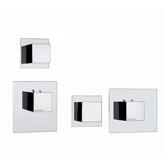 Bossini Cube Смеситель для душа, встраиваемый, термостатический, с переключателем на 2 источника, цвет: хром