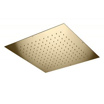 Bongio Soffioni Верхний душ квадратный встраиваемый 400х400 мм, цвет: золото
