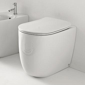 Kerasan Nolita Унитаз безободковый пристенный 55х35 см, с креплениями WB5N, цвет белый глянцевый