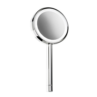 Decor Walther BS 7 Косметическое зеркало 15.5xh34.5см, ручное, увел. 5x, подсветка LED, цвет: хром