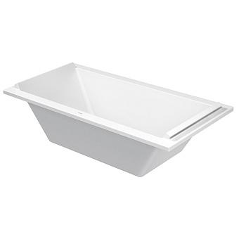 Duravit STARCK Ванна акриловая прямоугольный вариант 1800х900 mm, встраиваемая или с панелями, с 2 наклонами для спины, цвет белый