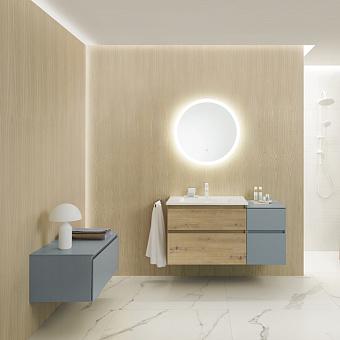 Burgbad Lin20 Комплект мебели 123х49.5х62.2см, подвесной, с раковиной, с зеркалом, с 2 ящиками, цвет: Cashmere oak decor