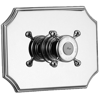 HUBER Victorian Встраиваемый термостатический смеситель для душа без запорного вентиля, цвет хром
