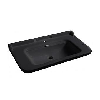 Kerasan Waldorf Раковина 120х55 см, 3 отв., керамическая, цвет: черный/хром