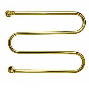 Margaroli Vento Полотенцесушитель водяной 60х53х12.5см, межосевое расстояние: 46.5см, цвет: золото
