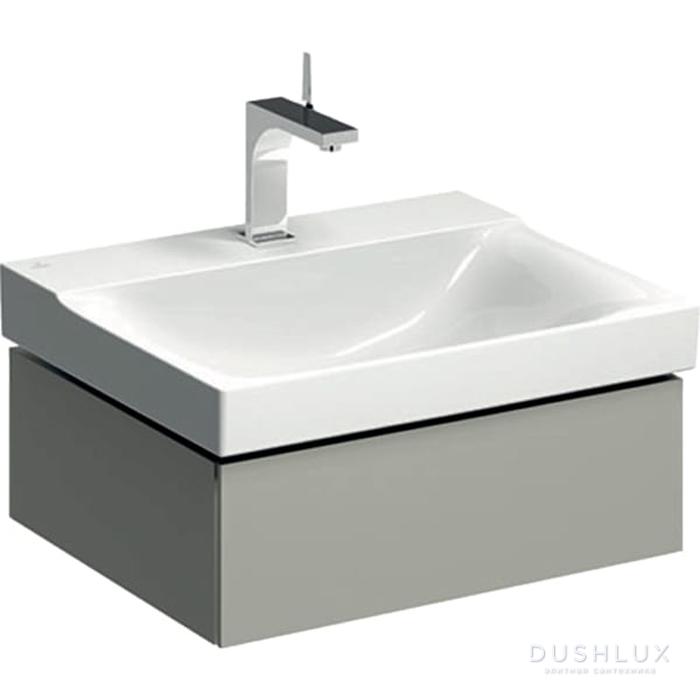 Geberit Xeno² Тумба с раковиной 58х22х46.2см, с 1 отв., подвесная, с одним выдвижным ящиком, цвет: серый матовый