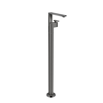 Axor Edge Смеситель для раковины, напольный, с донным клапаном push/open, излив 235мм, цвет: черный