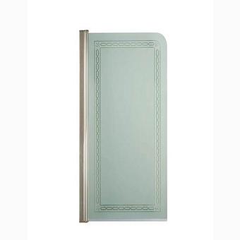Душевая панель Gentry Home Arcadia Deco 70х130 см, матовое стекло, прозрачный декор, профиль слева/справа (Incalux)