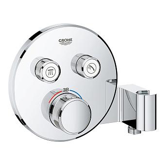 Grohe Grohtherm SmartControl Термостат для встраиваемого монтажа на 2 выхода со встроенным держателем для ручного душа, цвет: хром