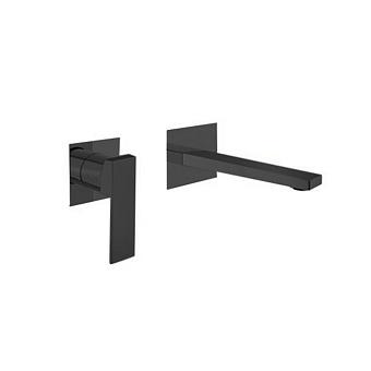 Webert Pegaso Смеситель для раковины, встраиваемый, цвет: черный матовый
