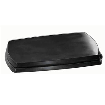 Artceram JAZZ сиденье для унитаза черное, шарниры хром (микролифт)