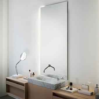 Agape Nudo LED Зеркало настенное 220x40x3.8 см с LED подсветкой