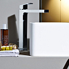 Zucchetti Jingle Однорычажный смеситель для раковины на 1 отверстие с высоким изливом и донным клапаном, цвет хром